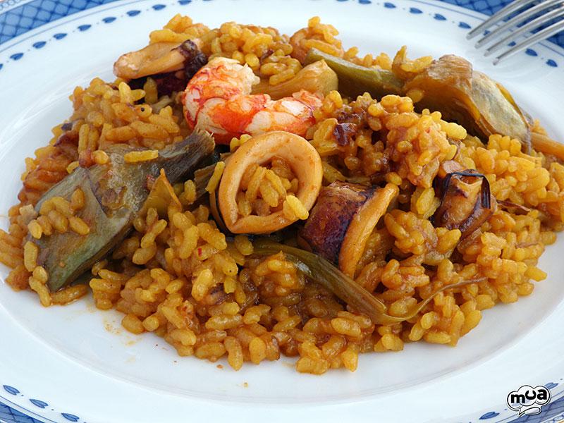 Arroz con alcachofas y calamares rico no ricote - Arroz con alcachofas y jamon ...