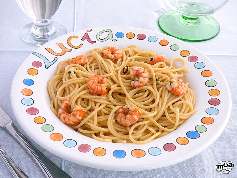 Espaguetis Con Gambas Al Ajillo Rico No Ricote